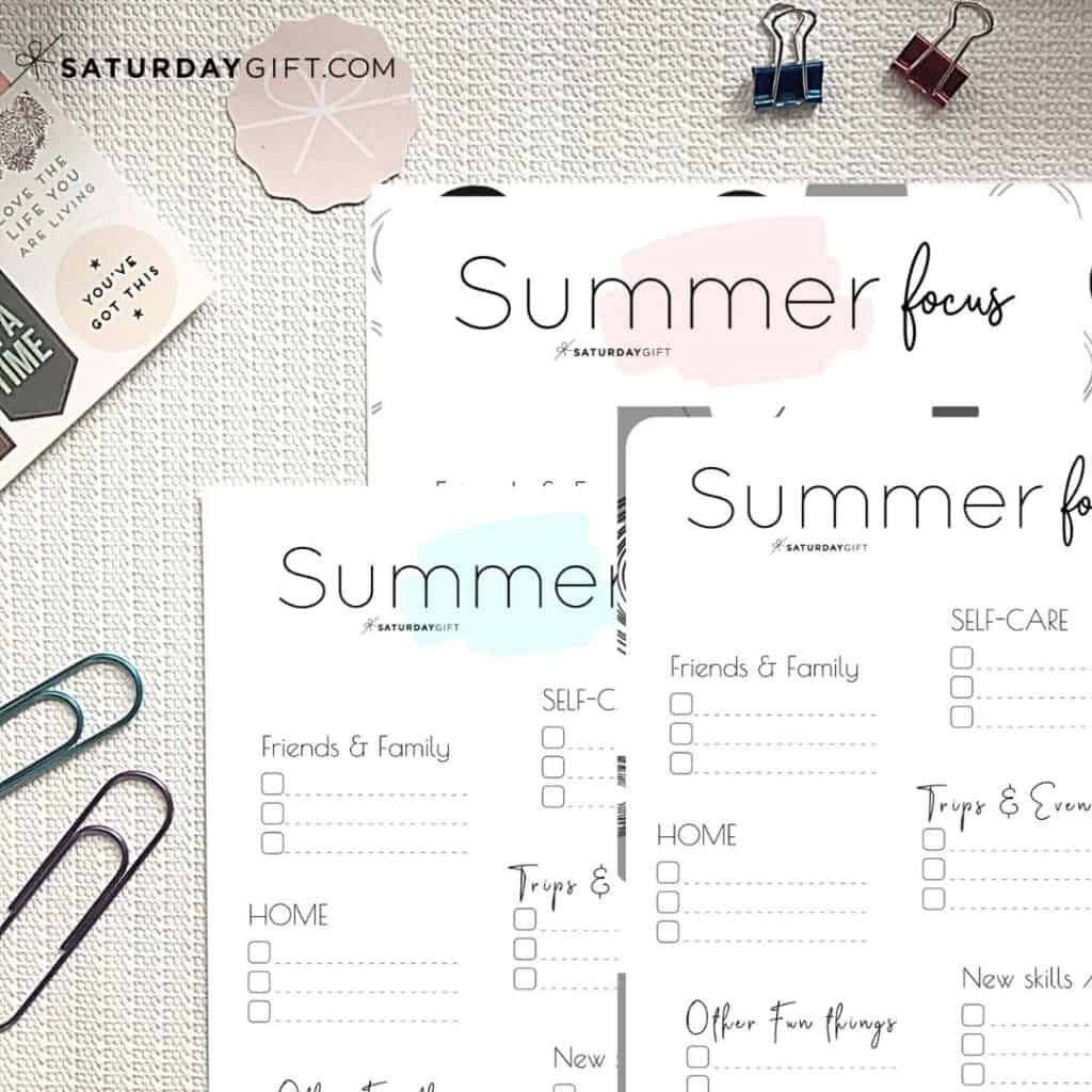 Write Down Your Summer Plans And Goals And Stay Focused