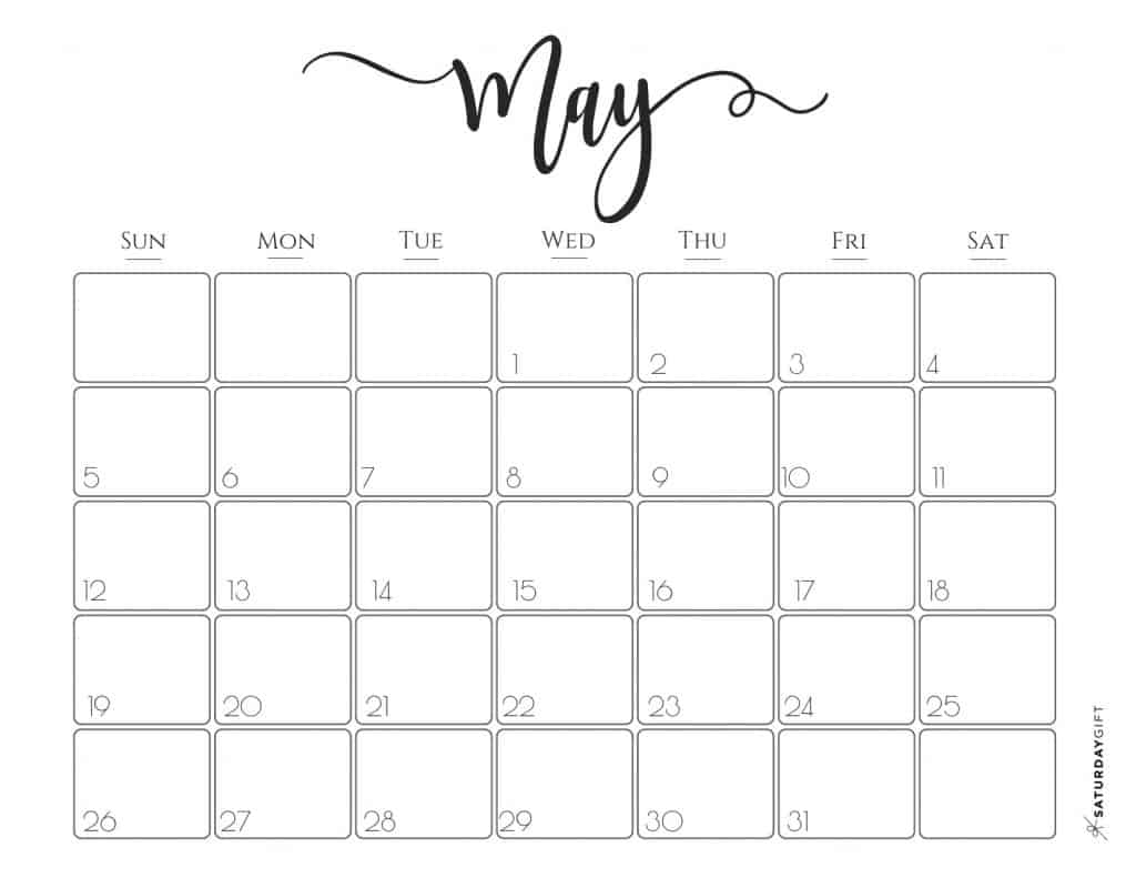 Elegant Calendar Free Printables
