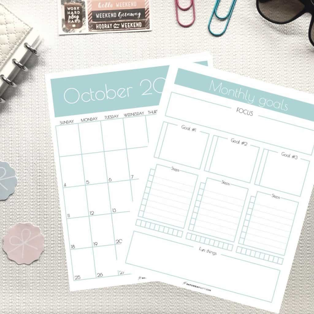 Pretty Amp Practical Monthly Goals Template And Calendar