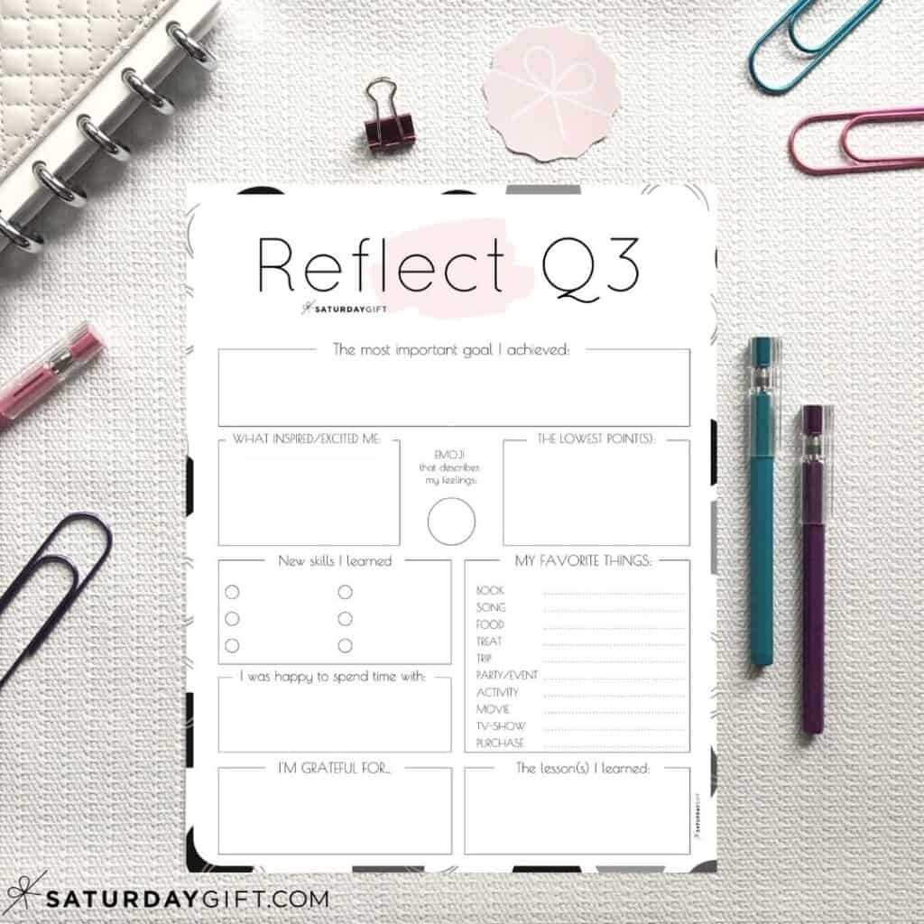 How To Review Your Life With The Q3 Quarter Three