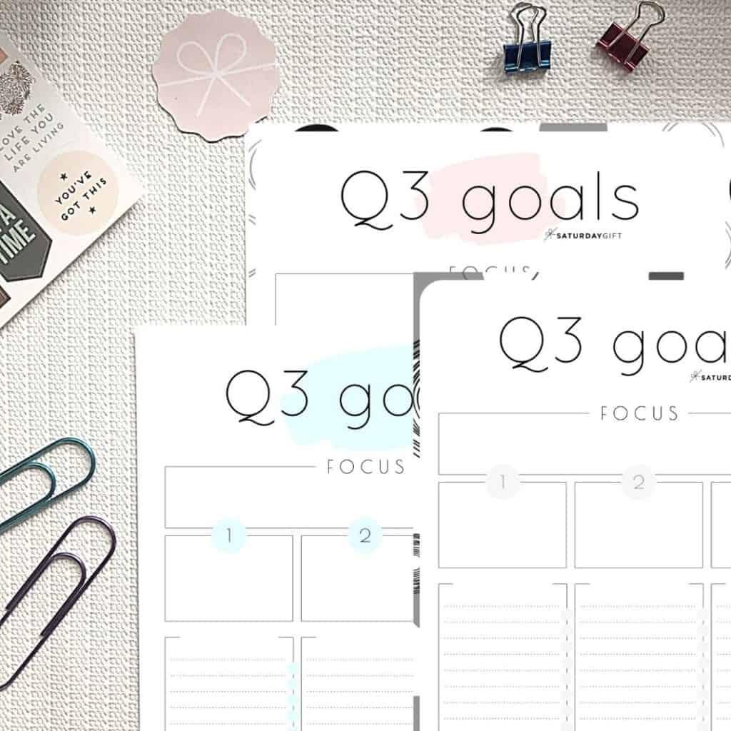 How To Set Amp Achieve Quarter Three Goals Q3 Goals Worksheets