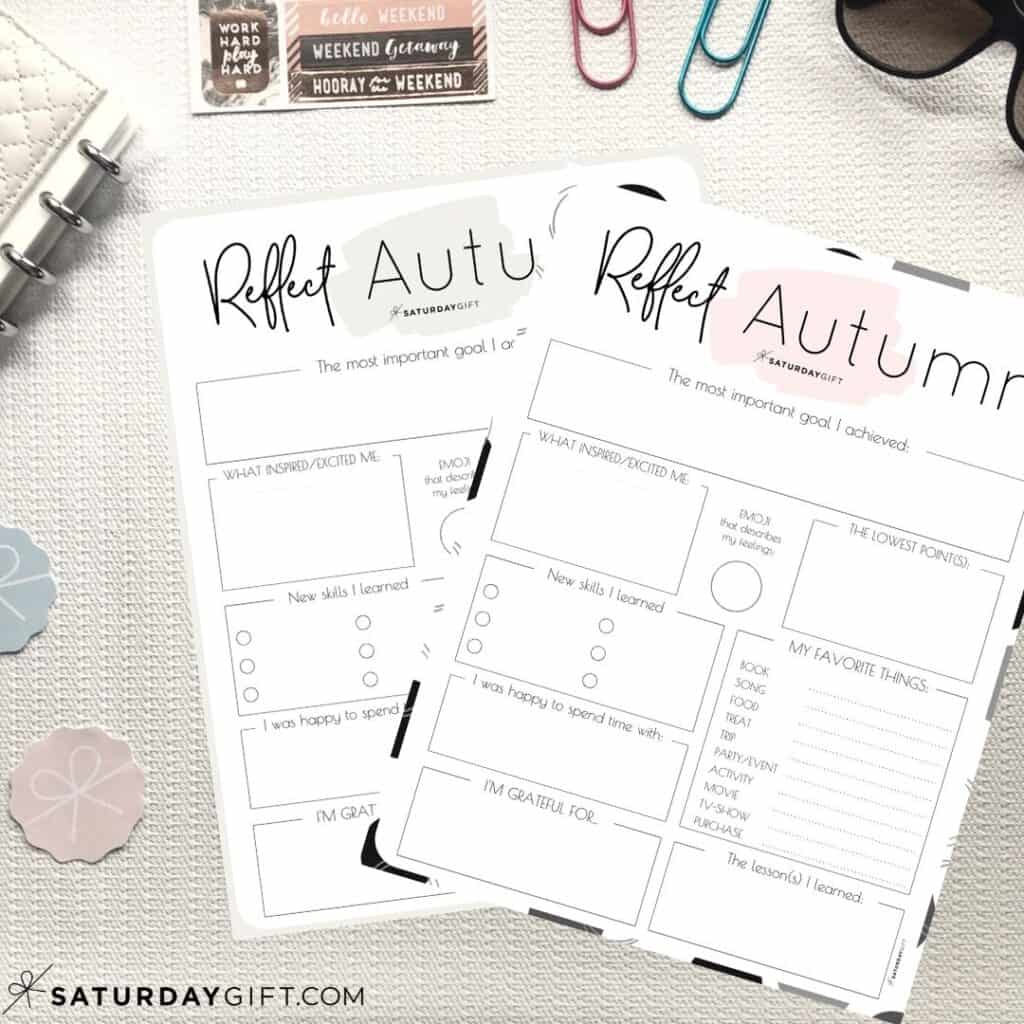 Review Your Life With The Autumn Reflection Worksheet