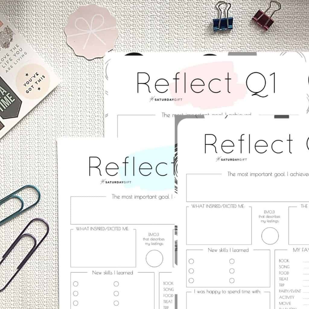Review Your Life With The Quarter One Reflection Worksheet