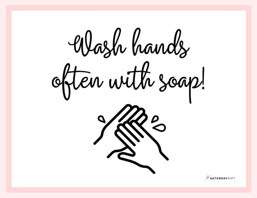 Printable Wash Hands Sign