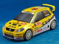 Maqueta 3D imprimible y recortable del coche Suzuki SX4 WRC. Manualidades a Raudales.
