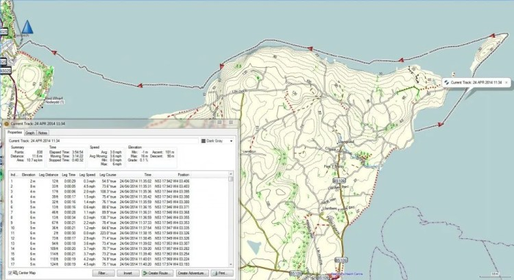 Day 3 GPS track