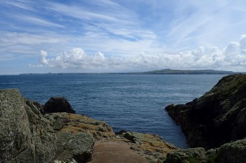 Anglesey in the distance