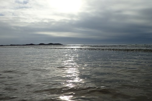 End of a good days paddle at Rhosneigr