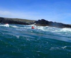 Penrhyn Mawr – Fun conditions – big swell