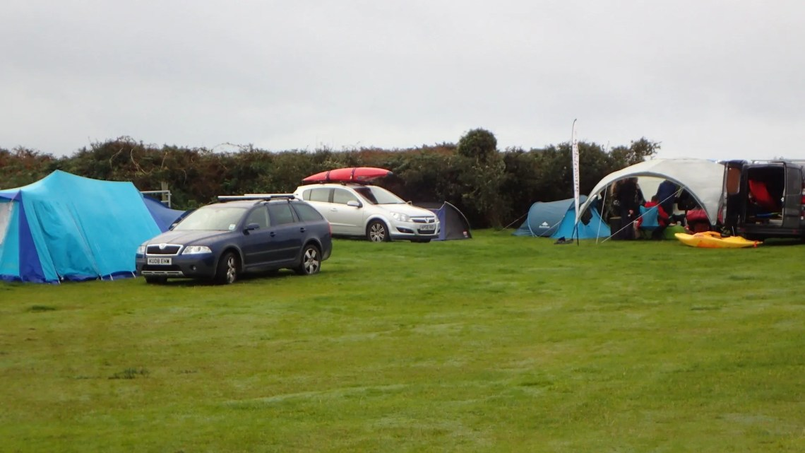 LCC Campers in the rain