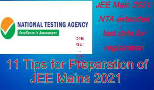 9Tips for Preparation of JEE Main 2021