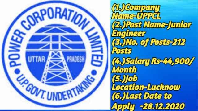 UPPCL Recruitment 2020 for Jr Engineer