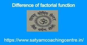 Difference of factorial function
