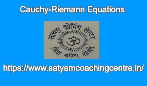 Cauchy-Riemann Equations