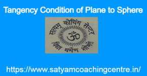 Tangency Condition of Plane to Sphere