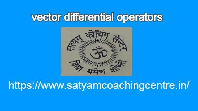 vector differential operators
