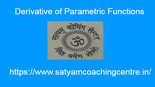 Derivative of Parametric Function