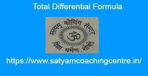 Total Differential Formula