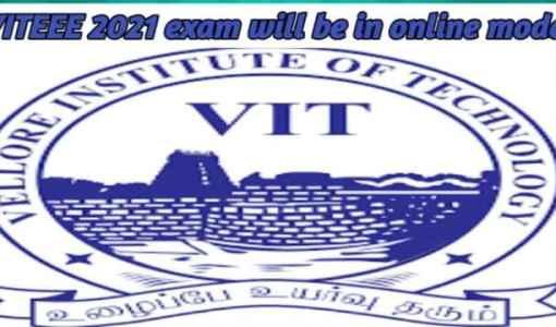 VITEEE2021 exam will be in online mode