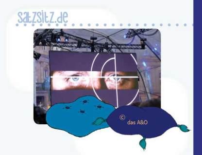 Tatort-Premiere: das berühmte Auge mit Illustration von das A&O