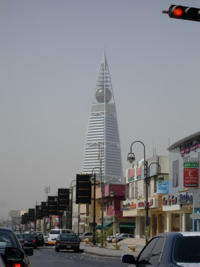 Al-Faisaliyah, in the background, is home to offices, hotels, restaurants and a high-end shopping mall, all in an air-conditioned environment (photo: Andy Conder)