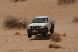 Getting airborne at the Ha'il Rally