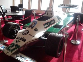 World Champion Saudia sponsored Williams Formula 1 car at Reem International Circuit (photo: Andy Conder)