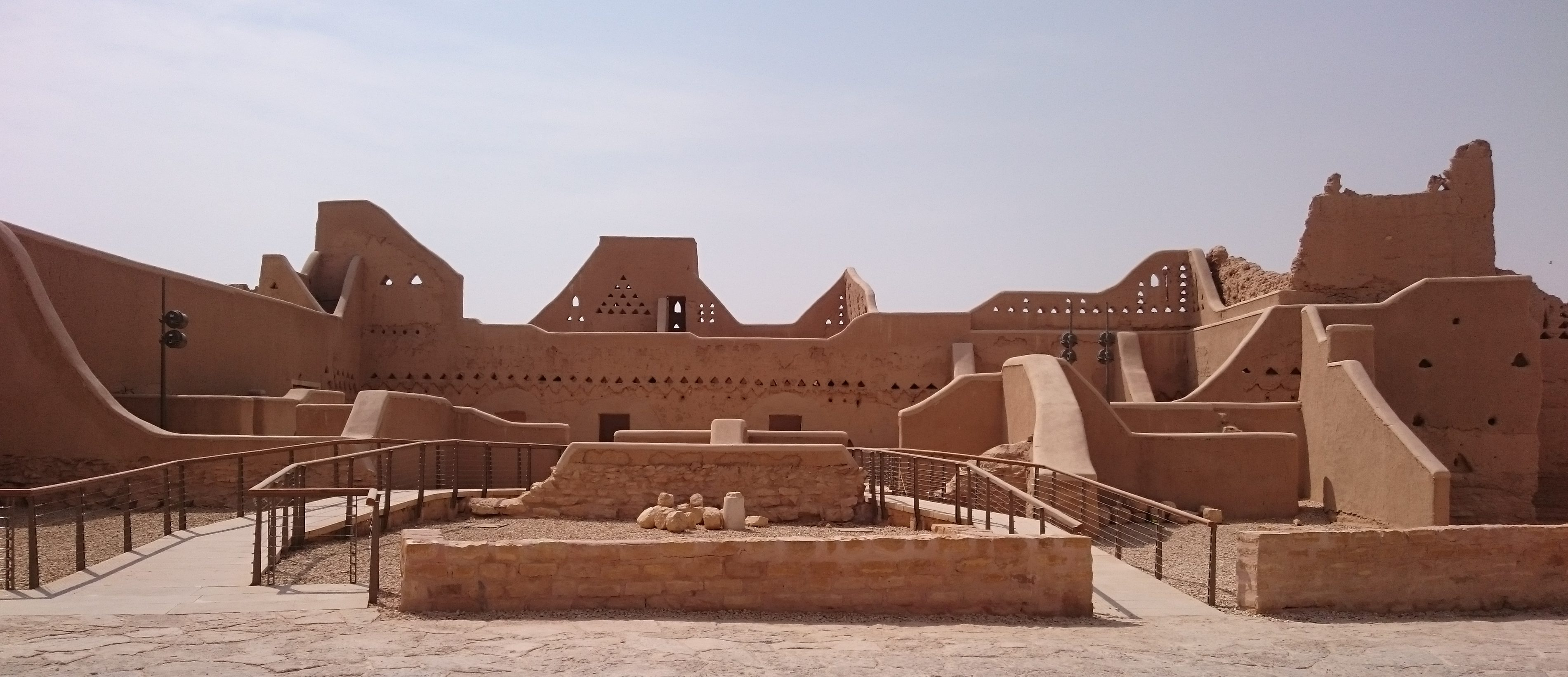 Walkways into the palaces at Historical Addiriyah allow people to get close without causing damage