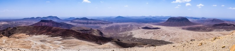 View on the center of the Harrat Khaybar from Jebel Abiadh (photo: Florent Egal)