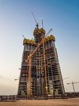 Jeddah Tower building progress as of 13th of july 2016 (photo: Ammar Shaker)