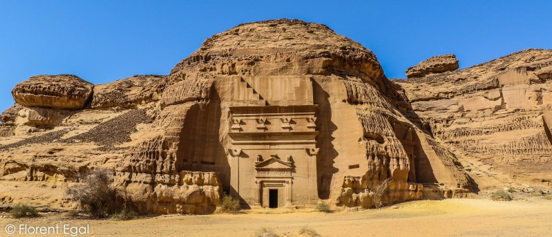 One of Madain Saleh's best preserved monumental tombs (photo: Florent Egal)
