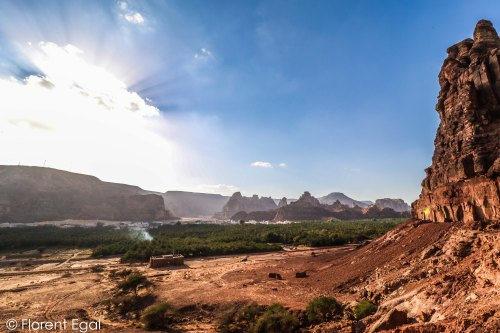 View on the ancient oasis of Dedan from the Lions Tombs (photo: Florent Egal)