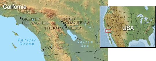 Coachella Valley map