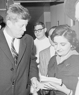 Helen Thomas e JFK