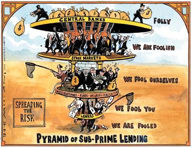 Sub-prime lending pyramid