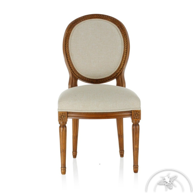 Chaise Ancienne Blanche Saulaie