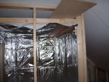 De saunafolie zit