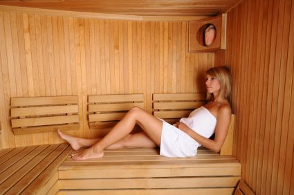built in sauna