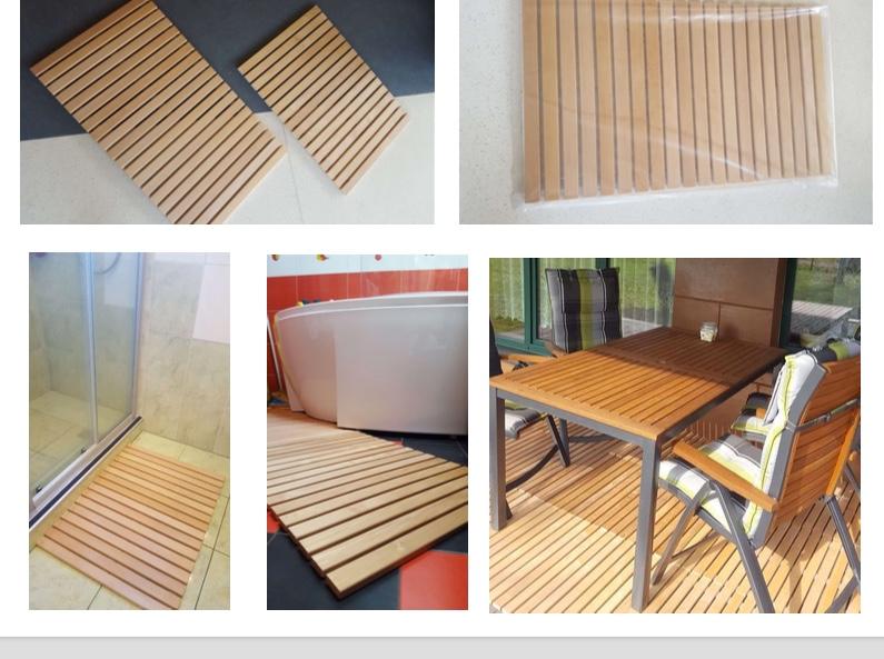 Wooden Floor Mat Sauna Roll Up Alder Hardwood Sauna Timber