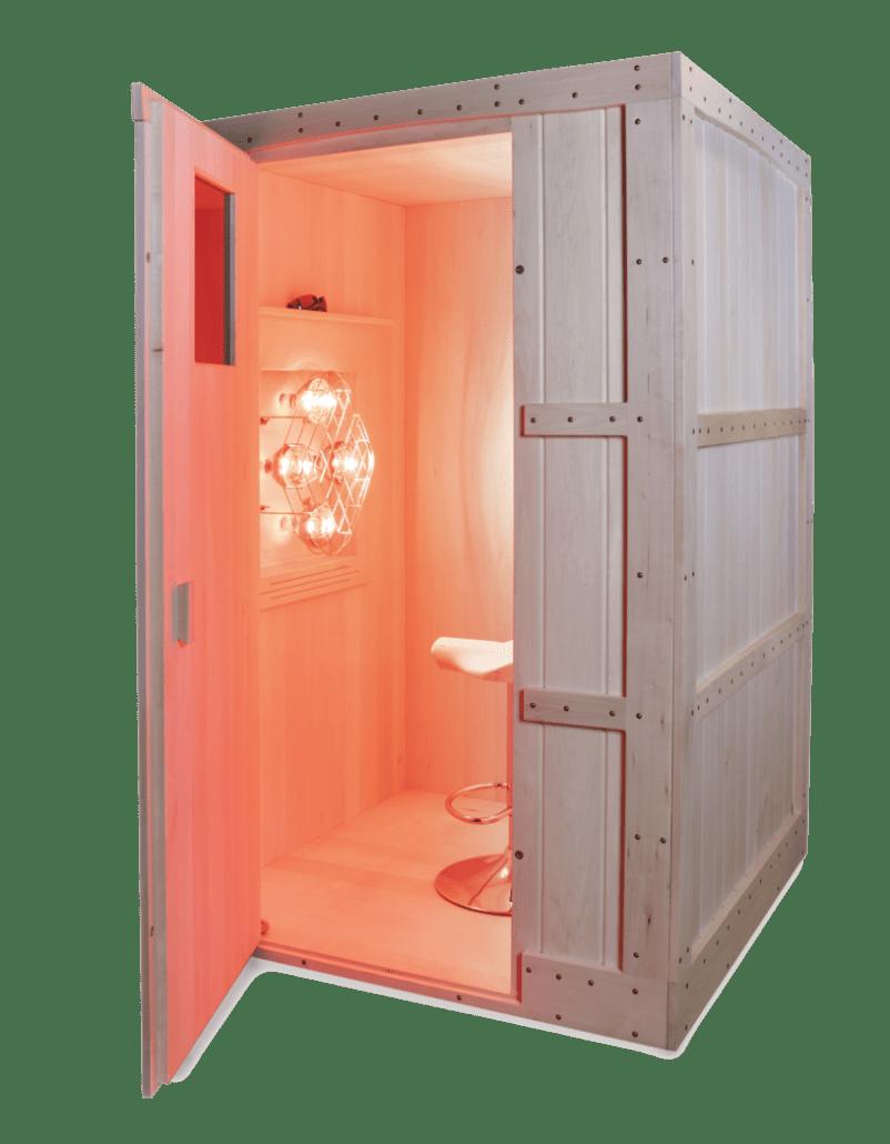 Basswood near infrared sauna