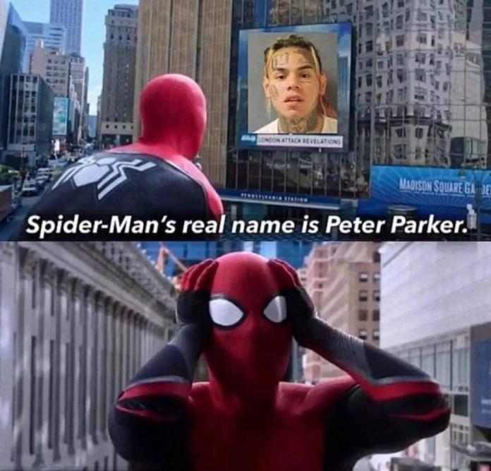 6ix9ine reveal Spider-Man's identity