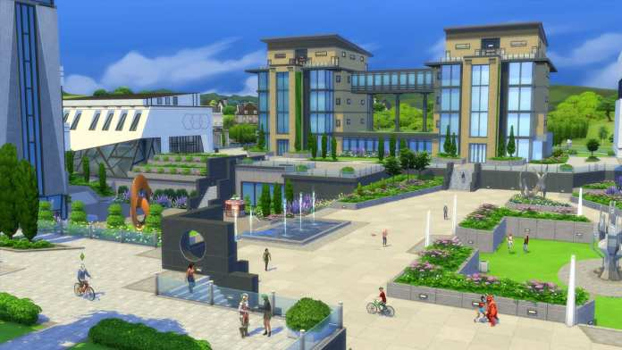 The Sims 4: Discover University college screenshot