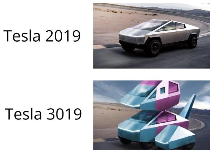 futuristic tesla