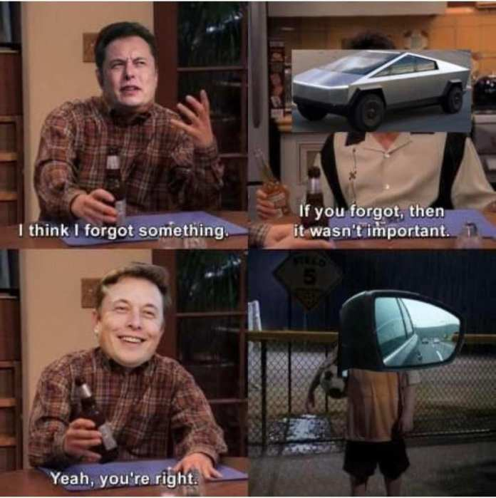 forgot something tesla