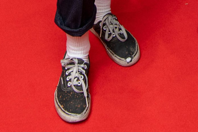Stewart's shoes look stinky and torn