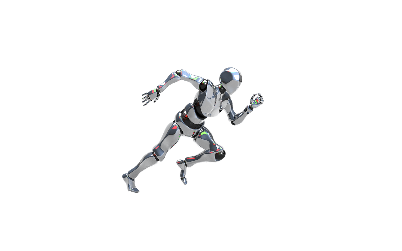 robot, isolated, artificial intelligence