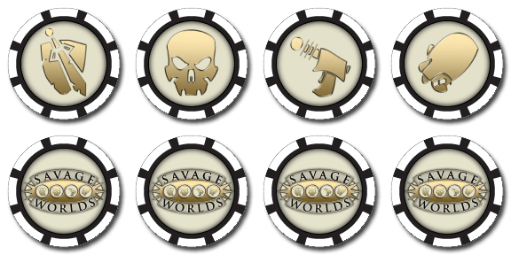 Image of official Savage Worlds bennies