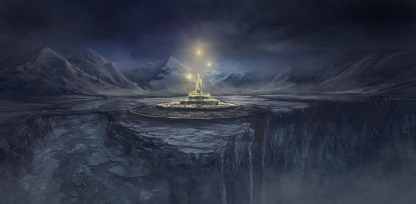 illustration of Deadfalls, a city in Winter Eternal's fictional world of Elherrac