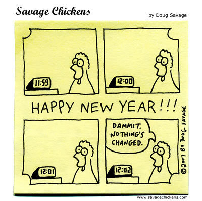 Savage Chickens - New Year's Eve