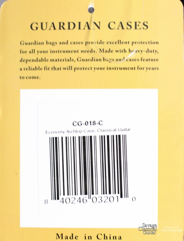 Guardian CG-018-C Single Arch Top Classical Guitar Case
